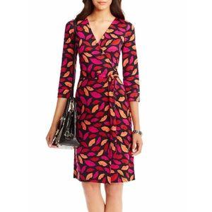 Diane Vo Furstenburg LIPS wrap dress